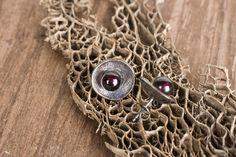 Garnet Cup Earrings, medium  by Chase Gilbert @ cgilly.com