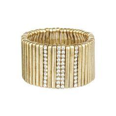 Metal + Pavé Bar Stretch Bracelet | $58