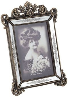 c35f88eb5e7 Lindsay Antique Gold and Mirror Photo Frame · Shabby Chic ...