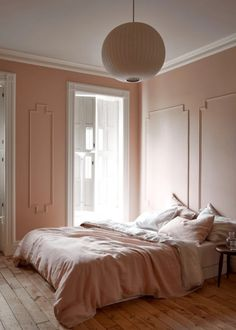 Extraordinary pink bedroom interior design just on miral iva home design Pale Pink Bedrooms, Romantic Bedrooms, Small Bedrooms, Guest Bedrooms, Home Design Images, Design Ideas, Design Styles, Monochrome Bedroom, Monochromatic Room