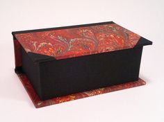 Handmade business cards box (black and red)