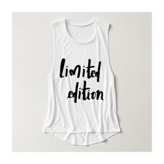 limited edition flowy muscle tank top ($34) ❤ liked on Polyvore featuring tops, muscle tank, white top, shirts & tops, white muscle tank and white shirt
