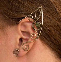 Elf ear cuffs Wire wrapped ear cuffs Elven ear by StasyaWireWrap