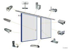 Factory supplier ! warehouse sliding door aluminum profile,aluminum sliding door for warehouse