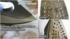 Utilisez du sel pour nettoyer votre fer à repasser