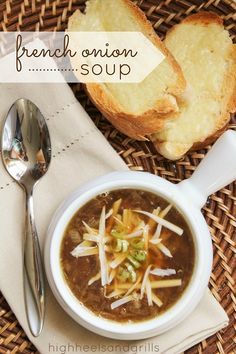 French Onion Soup. #recipe http://www.highheelsandgrills.com/2013/05/french-onion-soup.html