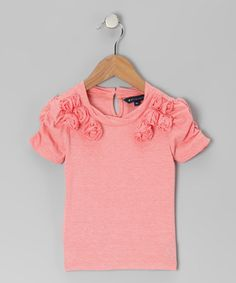 Take a look at this Pink Rosettes Tee - Toddler & Girls by Periwinkle on #zulily today!