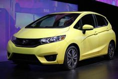 2015 Honda Fit is revealed to the media during the 2014 North American International Auto Show held at Cobo Center in downtown Detroit on Monday, Jan. 13, 2014.