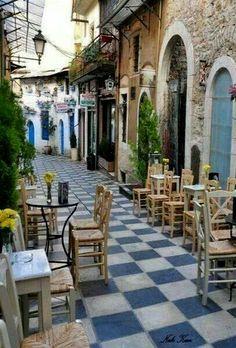 Alley in Ioannina City, Epirus, Greece