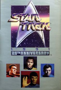 Star Trek 25th Anniversary Crew 1991 TV Show Poster 24x36 – BananaRoad