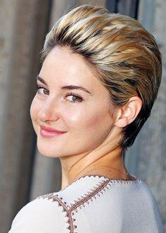 Shailene Woodley's pixie cut / La coupe pixie à la Shailene Woodley