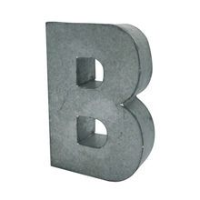 """5.75"""" Galvanized 3D Letter By ArtMinds®"""