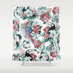Check out society6curated.com for more! @society6 #floral #flowers #shower #curtain #home #decor #homedecor #apartment #apartmentgoals #sophomoreyear #sophomore #bathroom #bath #bedandbath #bathe #unique #art #design #creativity #creative #fun #git #giftidea #gifts #giftideas #pretty #beauty #beautiful #botanical #red #white #green #toucan #birds #bird #tropical