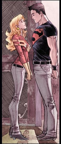 Superboy/Wonder Girl love = Definitely in my top 5 DC comic book characters of all time.