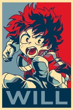Midoriya in the 'hope' styled poster - Album on Imgur