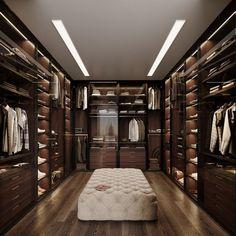 CGI: Manhattan Apartment on Behance Walk In Closet Design, Wardrobe Design Bedroom, Closet Designs, Closet Bedroom, Wardrobe Room, Cozy Bedroom, Home Room Design, Dream Home Design, Modern House Design
