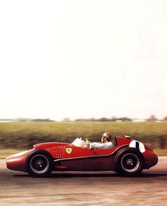Peter Collins, Scuderia Ferrari, Silverstone, British Grand Prix,1958. #Britishgp #Silverstone