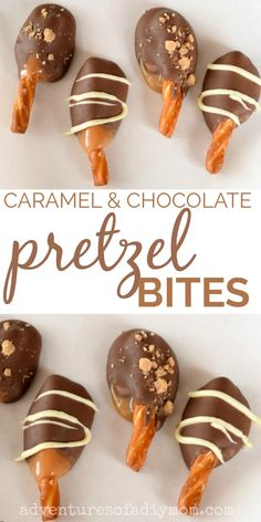 Pretzels dipped in delicious caramel and then chocolate. These yummy treats are perfect to gift to neighbors during the holiday season. Informations About Caramel & Chocolate Covered Pretzel Bites Pin New Year's Desserts, Christmas Desserts, Christmas Treats, Dessert Recipes, Christmas Candy, Breakfast Recipes, Handmade Christmas, Brunch Recipes, Christmas Ornament