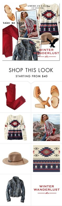 """Winter Wanderlust with American Eagle: Contest Entry"" by maria-maldonado ❤ liked on Polyvore featuring Comptoir Des Cotonniers, American Eagle Outfitters and aeostyle"