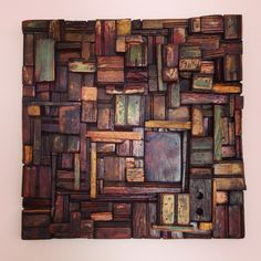 Atelier Tremé | New Orleans Wooden Quilt Material | Waterlogged wood salvaged from the artist's home that perished in Hurricane Katrina