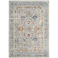 Safavieh Mystique Oriental Grey / Multi Distressed Silky Polyester Rug (9' x 12')