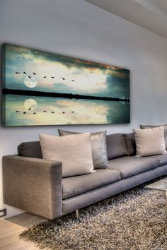 Attleborough Canvas Wall Art by Marmont Hill Inc. on @HauteLook. Birds flying over the horizon.