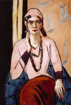 Beckmann, Max (1884-1950) - Quappi in Pink