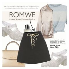 """Black Raw Hem Skirt"" by lunaarmani ❤ liked on Polyvore featuring T By Alexander Wang, Pilot, MICHAEL Michael Kors, Bobbi Brown Cosmetics and Tiffany & Co."
