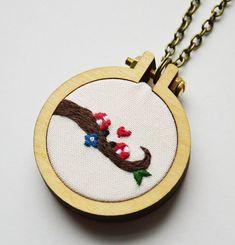 Ladybird Love Hand Embroidery Miniature by PixiecraftHandmade