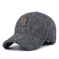 ea026f7816913  AETRENDS  Woolen Knitted Design Winter Baseball Cap Men Thicken