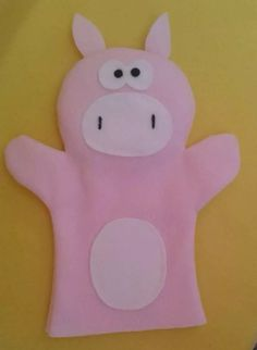 títere manopla´chancho bebés niños Felt Diy, Felt Crafts, Diy And Crafts, Crafts For Kids, Doll Sewing Patterns, Felt Patterns, Hand Puppets, Finger Puppets, Sowing Projects