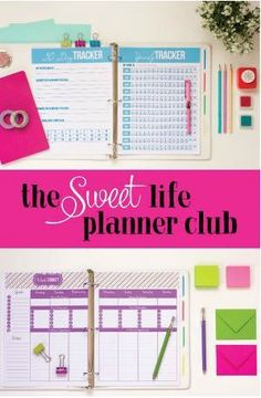 After years of trying to stay organized and creating planners, I've realized there is more to just a printable. Each person is unique and needs a library of options to help them stay organized. That's why I've created the Sweet Life Planner club.