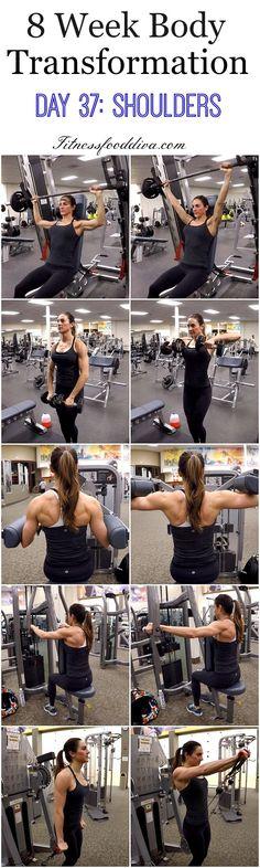 nice 8 Week Body Transformation: Day 37 Shoulders....