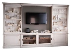 Sliding TV Bookcase Wall Unit from GRANGE Furniture