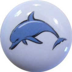 Dolphin Nautical Ceramic Cabinet Drawer Pull Knob