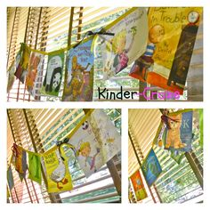 Use children's book jackets to create a classroom banner