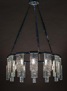 Big Sur Chandelier by Magni Home Collection - textured cast glass hand-crafted in Southern California Black Chandelier, Chandelier Lamp, Pendant Lamp, Lamps, Transitional Chandeliers, Transitional Lighting, Luxury Lighting, Shop Lighting, Purple Roses