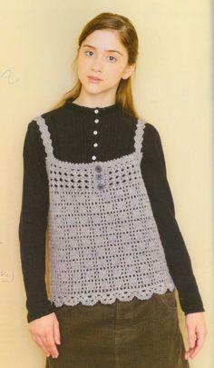 Crochet Singlet Pattern For Winter Autumn  Japanese by DotsStripes, $2.50