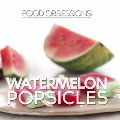 Ice Cream Maker Recipes For Ice Cream Truck Favorites – Genius Kitchen Wassermelone Ice Pops Summer Snacks, Summer Recipes, Watermelon Ice Pops, Fruit Popsicles, Healthy Popsicles, Mantecaditos, Food Obsession, Popsicle Recipes, Comfort Food