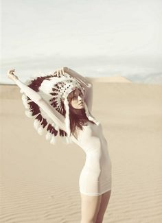 Just love this - the colors, the shadows, the negative space, the headdress...