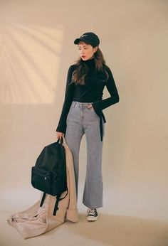 15 Adorable Fashion Tips Jeans Jaw-Dropping Ideas.Fashion Tips For Ladies Ulzzang Fashion, Kpop Fashion, Korean Fashion, Fashion Beauty, Fashion Outfits, Fashion Ideas, Fashion Inspiration, Fashion Trends, New Teen Fashion