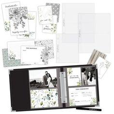 Scrapbook.com - Simple Scrapbooks - Wedding - Complete Kit with Black Album Wedding Album, Wedding Guest Book, Scrapbook Albums, Scrapbooking Layouts, You Are My Everything, Wedding Scrapbook, Memory Books, Simple Weddings, Scrapbooks