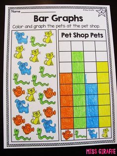 First grade graphing worksheets in all different levels that are fun... read all these ideas for teaching graphing!