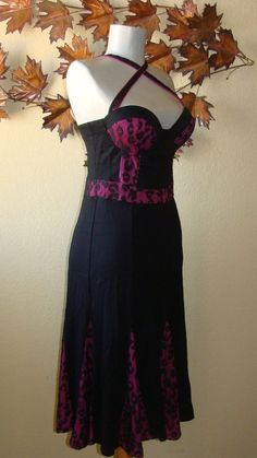 Bettie Page one Piece swimsuit with Skirt Purple black lace overlay vintage