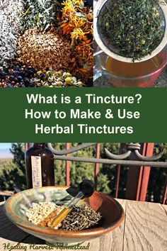 What is a Tincture? (How To Make and Use Herbal Tinctures) Have you ever wondered what on earth a tincture is? Well, here is your answer, along with how to make your own herbal tinctures. You'll also learn how to use them as well. Tinctures are one of the Cold Home Remedies, Natural Health Remedies, Herbal Remedies, Natural Cures, Herbal Tinctures, Herbalism, Cooking With Turmeric, Medicinal Plants, Herbal Medicine