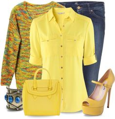 """Mellow Yellow"" by justjules2332 on Polyvore"
