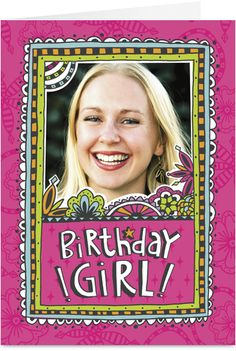 Happy Birthday Girl Photo Birthday Card