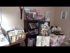What I appreciate about Pam Carriker's video is that she takes us through her studio and explains how she uses each section. This allows me to take the ideas that apply to me and potentially use them in my own studio. I also love that this is a working studio, not made to simply look pretty, but one that it utilized well.