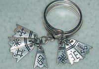Latvian Pagan Symbols rings