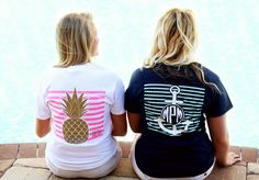 Our tees are completely customizeable! Tons of options to choose from! Cricut Explore Projects, Vinyl Cutter, Personalized Shirts, Tropical, Monogram, Graphic Sweatshirt, T Shirts For Women, Tees, Sweatshirts